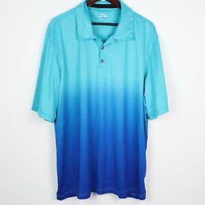 BCG Mens Ombre Dip Dye Tru-Wick Polo Shirt 2XL
