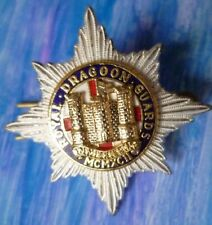 Badge- Royal Dragoon Guards MCMXCII Cap Badge (GILT & Enamel) 2 Lugs