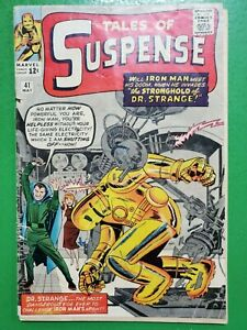 TALES OF SUSPENSE #41 3rd Iron Man Jack Kirby Stan Lee 1963 Marvel GD