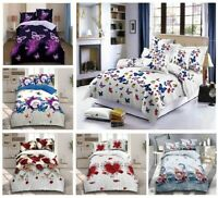 3D Effect Duvet / Quilt Cover Bedding Sets With Pillow Cases Free Fitted Sheet