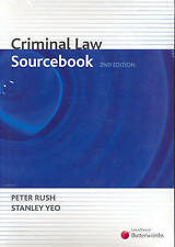 Criminal Law Sourcebook by Peter Rush, Stanley Yeo (Paperback, 2006)