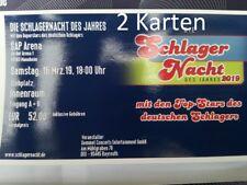 Schlager Nacht 2019     Mannheim     2 Karten Stehplätze