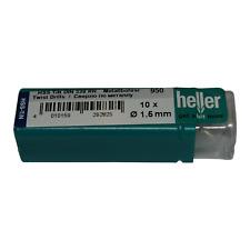 Heller 1.5mm HSS-TIN Titanium Twist Metal Drill Bits 10 Pack German Quality Tool