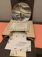 """Knowles """"The Mallard� Living Nature Jerners Ducks 1986 Collector's Plate #2 Coa"""