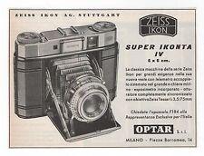 Pubblicità epoca ZEISS IKON IKONTA FOTO PHOTO advert werbung publicitè reklame
