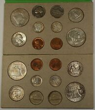 1958 P&D U.S. Naturally Toned Complete Double Mint Set 12 Silver Coins 20 Total