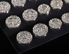 CraftbuddyUS CB70CL 50 Self Adhesive Crystal Diamnte Rhinestone  Moon Rock Gems