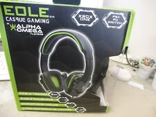 casque gaming eole C19 alpha omega vert  ( occasion )