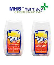 2 paquetes de tabletas Tums Antiácido Surtido de Fruta Sabores 75