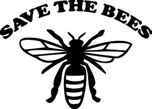 "SAVE THE BEES Vinyl Decal Sticker 7"" x 5"" Pollinators Beehive Flowers Honey"
