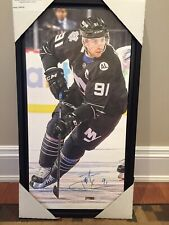 Autographed John tavares 14x28 Framed Canvas. Frameworth COA