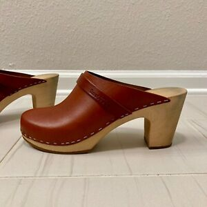 Swedish Hasbeens, Sky High Wooden Clogs - Size 40 (US 9)