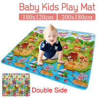 2mx1.8m Baby Kids Floor Play Mat Rug Picnic Cushion Crawling Mat Waterproof AU
