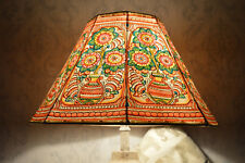 Mandala Pot Floor Lampshade Handmade with Leather | Unique Large Floor Lampshade