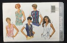 Butterick 4055 Sewing Pattern Sleeveless Top Vest Size 6 to 10 UNCUT 1995