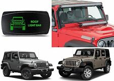 CH4x4 Green LED Rocker Switch Roof Light Bar For 2007-2017 Jeep Wrangler New USA