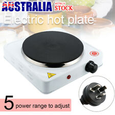 1500W Portable Single Electric Hot Plate Cooker Hotplate Cooktop Caravan Stove