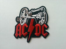 HEAVY METAL PUNK ROCK MUSIC SEW / IRON ON PATCH:- AC/DC (a) CANNON