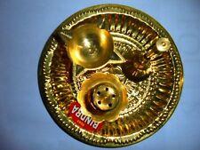 Hindu Puja Brass Thali Om Plate Prayer Bell Bowl Diya Agarbati stand Pooja Aarti
