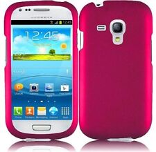Hard Rubberized Case for Samsung Galaxy S3 Mini i8190 - Hot Pink