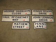 Beatles Liverpool street signs RARE Authentic Replicas 1980's set