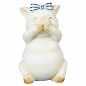 "TrueLiving Pig "" Speak No Evil"" Figurine Resin Farmhouse Decor. 5"""