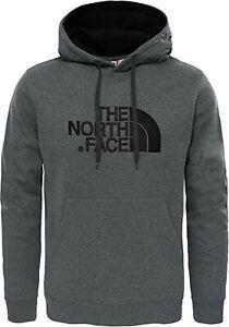THE NORTH FACE mens Hoodie sweatshirt jumperS M L XL XXL grey drew peak GENUINE