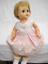 Vintage Horsman Baby Precious Doll Betty? Stuffed Vinyl Pink Corduroy Coat