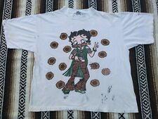 90s Betty Boop vtg T Shirt Hippy Hippie Groovy Flower Power single stitch worn