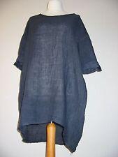 Made in Italy Lin Top, Lagenlook, BNWT, bleu marine