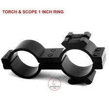 Torch Laser Mount 25mm x 25mm Rifle Scope Flashlight Bracket For Hunting