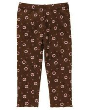 Gymboree Alpine Sweetie Floral Dot Legging Brown Size 18 24 months NWT