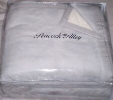 New Peacock Alley Premium Favorite / Evora Blanket 100% Plush Cotton Gray Queen