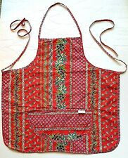 New listing Le Cluny Bib Apron Made in France Red Cotton French Country