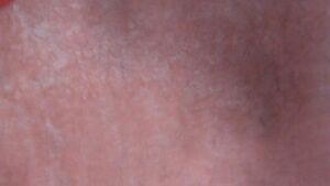 leather SCRAPS Shearling hide skin fur pelt Nappy pink Coral/Flamingo 13 Ounces