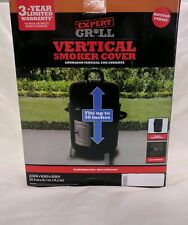 "Expert Grill Vertical Smoker Cover Durable Ripstop Fabric 22""X18""X30"" ; H20/Uv Res"
