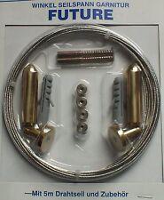 Seilspanngarnitur Seilspanner Drahtseilgarnitur vermessingt mit 500 cm Stahlseil