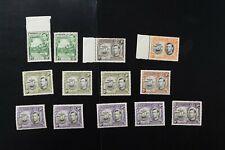 Grenada #132a//141a 1938 KGVI F/VF MNH stamps (v190)