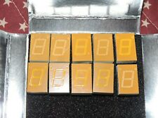 10 PIECES  HP 5082-7661 7 SEGMENT DISPLAYS PULLED FROM WORKING EQUIPMENT