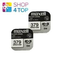 2 MAXELL 379 SR521SW BATTERIES SILVER 1.55V WATCH BATTERY EXP 2022 NEW