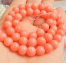 "NEW 8mm Natural Japan Sea Pink Coral Gemstones Round Loose Beads 15"" AAA"
