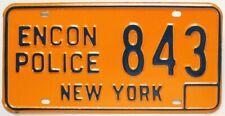 New York 1974 - 1985 Environmental Conservation Police License Plate ENCON 843