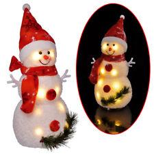 Dekorativer LED Schneemann Weihnachtsdeko Weihnachtsbeleuchtung Fensterdeko 42cm