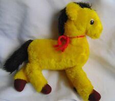 Dakin Horse Pony Plush R. Dakin 1975 Stuffed Vintage YELLOW  GOLD