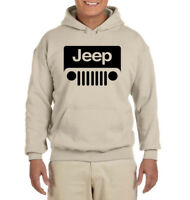 Jeep Desert Sand Sweat Shirt Hoodie w/Logo---Brand New---