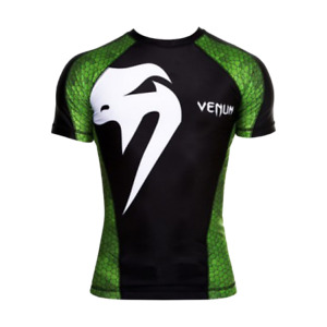 rash guard sport Venum Amazonia Green short sleeve men bjj mma