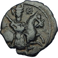 1204AD Seljuks Sultanate of Rum Authentic Medieval Islamic Coin HORSEMAN i65830