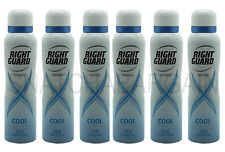 6 x RIGHT GUARD WOMEN COOL MAXIMUM PROTECTION 72hr ANTI-PERSPIRANT SPRAY150ml