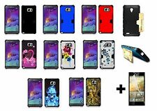 For Samsung Galaxy Note 5 N920A Hybrid Phone Cover Case + Screen Protector