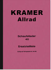 Kramer sagomate guarda pelliccia Ader 411 RICAMBIO elenco Catalogo parti di ricambio catalogo parti